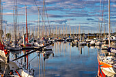 Morning in the marina of La Forêt-Fouesnant, Brittany, France, Europe