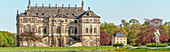 Panorama of the Summer Palace in the Great Garden of Dresden, Saxony, Germany