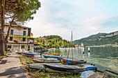 Port of Pescallo near Bellagio on Lake Como, Lombardy, Italy