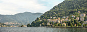View over Lake Como seen from Como, Lombardy, Italy