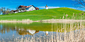 Hegratsrieder See, near Füssen, Allgäu, Bavaria, Germany, Europe