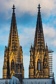 Spikes of Cologne Cathedral, Cologne, North Rhine-Westphalia, Germany, Europe