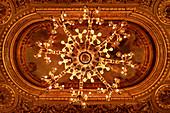"""Magnificent chandelier in the Kurhaus (Casino) in Baden-Baden, UNESCO World Heritage Site """"Major Spa Cities in Europe"""", Baden-Württemberg, Germany"""