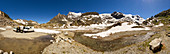 VAN life on the Steingletscher, Susten Pass, Uri, Bernese Oberland, Switzerland, Europe