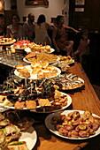 Pintxos in the Taverna Aralar, Donostia-San Sebastian, Basque Country, Spain