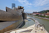 Guggenheim Museum by Frank O. Gehry on the Bilbao River, Bilbao, Basque Country, Spain