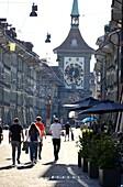at the Zytgloggturm, Kramergasse in the old town, Bern, Switzerland