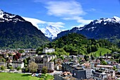 View from the Metropole Hotel in Interlaken, Bernese Oberland, Switzerland