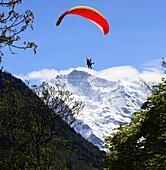 View in Interlaken on the Jungfrau massif, Bernese Oberland, Switzerland