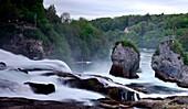 In the evening at the Rhine Falls in Schaffhausen, Eastern Switzerland, Switzerland