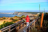 Rocky landscape near Lagos, Algarve, southern Portugal