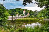 Rothenburg pond in Dinkelsbuehl, Bavaria, Germany