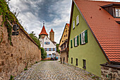 Upper Wall Trail in Dinkelsbuehl, Bavaria, Germany