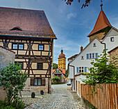 Kapuzinerweg in Dinkelsbuehl, Bavaria, Germany