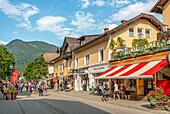 Tourists in downtown Garmisch Partenkirchen, Bavaria, Germany