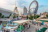 Tokyo Dome City Attractions amusement park next to Tokyo Dome Arena in Bunkyō, Tokyo, Japan