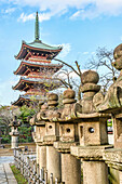 Tōeizan Kan'ei-ji Endon-in five-story pagoda in Ueno Park, Tokyo, Japan