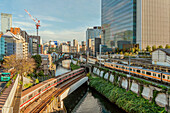 Cityscape in Ochanomizu business district, Tokyo, Japan