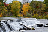Waterfall in Chateauguay River, Quebec Province, Canada