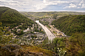 Panorama of the spa town of Bad Ems, UNESCO World Heritage Site 'Important Spa Towns in Europe'', Rhineland-Palatinate, Germany