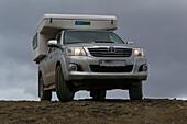 Off-road camper in Iceland