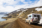 Gravel roads on the east fjords of Iceland
