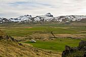 Parking space in the countryside near Egilsstadir, Iceland