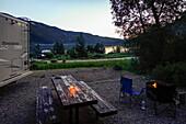 Evening mood at Tracy Lake, Wyoming, USA