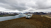 Camping on the mountain, Westfjords, Iceland