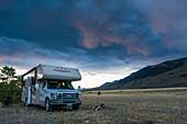 Sunset north of Yellowstone National Park, Montana, USA
