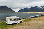 With the camper in Lofoten, Norway