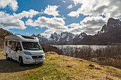 Traveling by camper on the Vesteralen, Norway