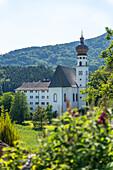 View of the Höglwörth Monastery, Chiemgau, Bavaria, Germany
