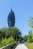 View to the observation tower Pyramidenkogel, Carinthia, Austria