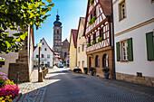 Kapellenstrasse in Forchheim, Bavaria, Germany