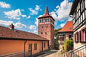 Roter Turm und Röthleinsberg in Kulmbach, Bayern, Deutschland
