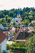 View from Röthleinsberg in Kulmbach, Bavaria, Germany