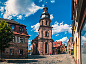 Spitalgasse and Spitalkirche in Kulmbach, Bavaria, Germany