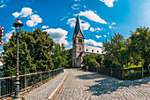 """Catholic town church """"Our Lady"""" in Kulmbach, Bavaria, Germany"""