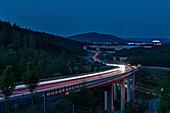 City motorway in Rödental, Upper Franconia, Bavaria, Germany