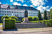 Ernst the Pious Monument in front of Friedenstein Castle in Gotha, Thuringia, Germany