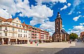 Neumarkt with Margarethenkirche in Gotha, Thuringia, Germany