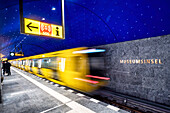 Starry sky in the new Museum Island station on the U5 line, Berlin, Germany, Europe