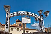 Puente de los Alemanes, on the Guadalmedina River, Iglesia de Santo Domingo de Guzman, Malaga, Costa del Sol, Malaga Province, Andalusia, Spain, Europe