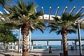 El Palmeral de las Sorpresas, promenade, port, Malaga, Costa del Sol, Malaga Province, Andalusia, Spain, Europe