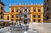 Espiscopal Palace in Plaza del Obispo, Malaga, Spain, Andalusia