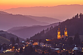 Evening mood in St. Peter, Southern Black Forest Nature Park, Southern Black Forest, Black Forest, Baden-Wuerttemberg, Germany, Europe