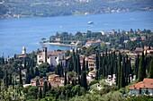 View over Gardone, west bank, Lake Garda, Lombardy, Italy