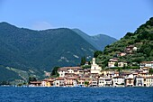 Ferry to Peschiera on Monte Isola, Lake Iseo, Lombardy, Italy