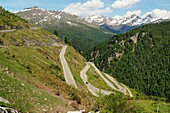 Pass road to Timmelsjoch, Passeier Valley, South Tyrol, Italy